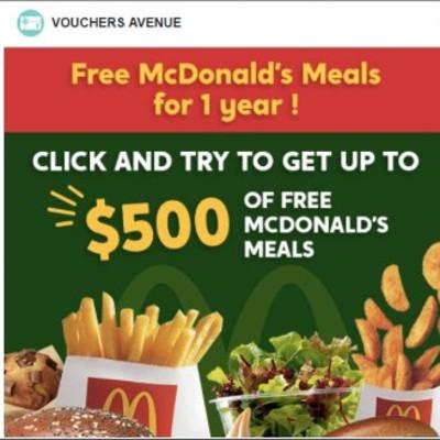 Get a $500 McDonalds Gift Card!