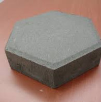 Paving block type hexagonal